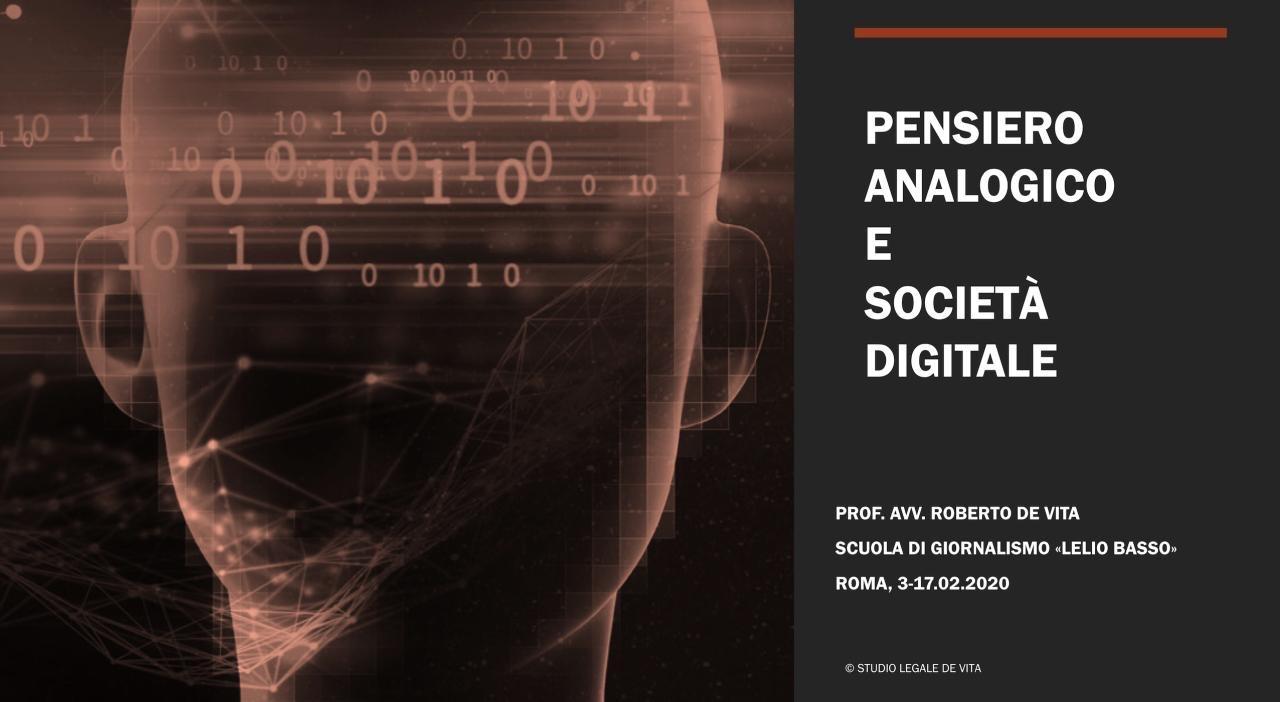 Studio Legale De Vita - Pensiero analogico e società digitale